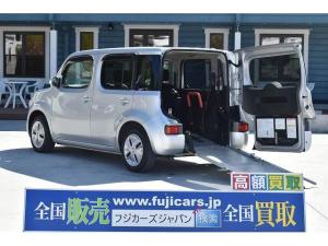日産 キューブ 福祉車両 スロープ 車椅子1基 電動ウインチ 固定装置 ナビ