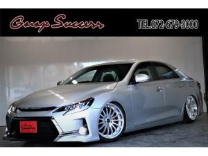 トヨタ マークX 250G Sパッケージ G's仕様/新品カラーアイヘッドライト/新品スモークシーケンシャルテール/新品アネーロ19AW/新品タイヤ/新品フルタップ式TEIN車高調/ETC/Bluetooth/パドルシフト/クルコン