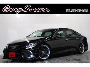 トヨタ マークX 250G 新品カラーアイヘッドライト/新品モデリスタハーフエアロ/新品WORKグノーシス19AW/新品スモークシーケンシャルテール/BRASH車高調/ETC/Bluetooth/バックカメラ