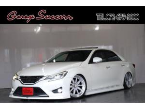 トヨタ マークX 250G Sパッケージ サンルーフ/新品SSR19AW/新品フルタップ式TEIN車高調/モデリスタ/ETC/クルコン/ドライブレコーダー/シートヒーター/HDD/Bluetooth/レザーシート