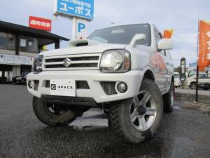 スズキ ジムニー ランドベンチャー 4WD ハーフレザー 純正16インチアルミ 5MT キーレス 革巻きハンドル ルーフレール リフトアップ エアコン ABS