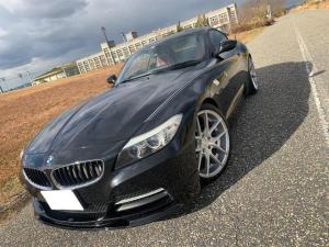 BMW Z4 sDrive23i ハイラインパッケージ MARVINフロントリップカーボントランクスポイラーNICHE19インチアルミホイールダウンサス純正HDDナビフルセグTVバイキセノン赤革パワーシートシートヒーター付NAストレート6ETC付デコライン