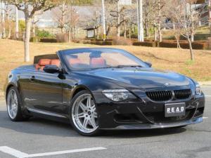 BMW M6 カブリオレ ブラウンレザー ハイパーフォージド20AW KW車高調 社外マフラー 社外カーボンリップ&リアスポイラー スマートキー 純正ナビ クルーズコントロール パワーシート シートヒーター 純正ETC 禁煙車