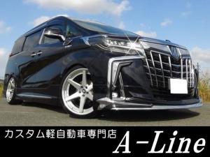 トヨタ アルファードハイブリッド SRCエグゼクティブシートJBL後席12型 21インチ車高調