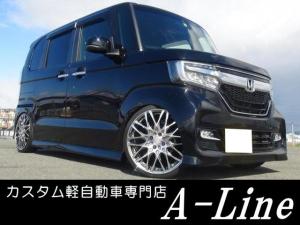 ホンダ N-BOXカスタム G・Lターボセンシング 車高調17インチ ナビETCカメラ付