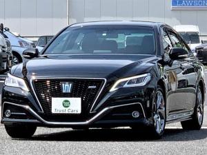 トヨタ クラウンハイブリッド RS /セーフティセンス/エアロ/デイライト/3眼LEDヘッド/LEDフォグ/LEDシーケンシャルウインカー/18AW/BSレグノ/Wディスプレイ/フルセグ/ブルーレイ/ドラレコ/ステアヒーター