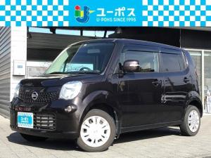 日産 モコ X プッシュスタート・スマートキ―・社外SDナビ・ワンセグTV