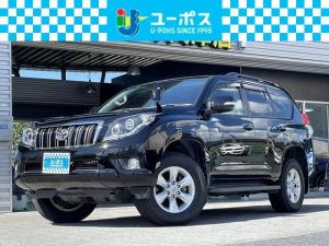 トヨタ ランドクルーザープラド TX Lパッケージ 4WD 社外ヘッドライト・黒革シート・純正ナビ・フルセグ・バックカメラ・スマートキー
