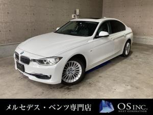 BMW 3シリーズ  320i/ラグジュアリー/サンルーフ/オートライト/コーナーセンサー/BLKレザー/パワーシート/シートメモリー/プッシュスタート/純正ナビ/純正AW/ETC