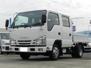 いすゞ エルフトラック Wキャブ 安全装置 ダブルキャブ6人乗 4ナンバー キーレス フォグライト 左電動格納ミラー