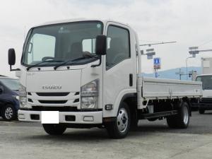 いすゞ エルフトラック ロング 平ロング 積載2t 総重量5t未満 3方開 内T L4.35 W1.80スムーサー イクリプスナビ ETC キーレス