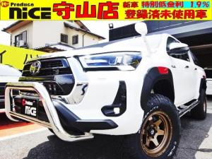 トヨタ ハイラックス Z 登録済未使用・2.5inchアップ・FUEL17AW・グリルガードGI GEARサイドステップ・オーバーフェンダー・TRDデカール・バックカメラ・フルセグTV・LEDヘッドライト・ホワイトレタータイヤ