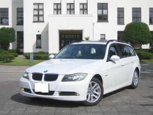BMW 3シリーズ 320iツーリング 無事故車 電動パノラマサンルーフ CDチェンジャー ミラー内蔵ETC  オートライト ステアリングスイッチ バック連動ミラー 16icアルミ キーフリー HIDヘッドライト イカリング フォグランプ