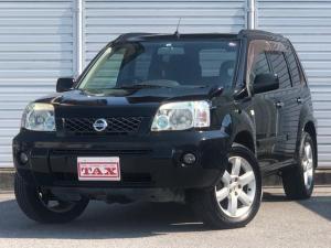 日産 エクストレイル X ワンオーナー・4WD・革シート・シートヒーター・社外HDDナビ・DVD再生・純正17インチAW・ETC・革巻きハンドル・電格ミラー・フロントフォグライト・ヘッドライトレベライザー・純正フロアマット