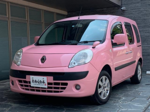 ルノー カングー クルール 限定ピンク 新品ナビTVバックカメラ付 両側スライドドア オーバーヘッドコンソール ダブルバックドア キーレス