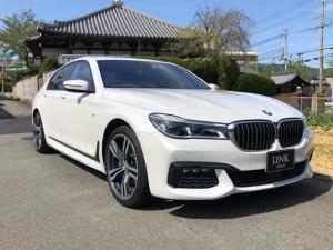 BMW 7シリーズ 740d xDrive Mスポーツ 純正20AW オートトランク サンルーフ 黒革電動シート シートヒーター シートエアコン ACC 全方位カメラ ハーマンカードン ドラレコ パドルシフト ミネラルホワイト
