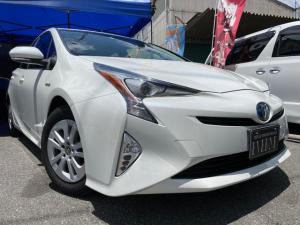 トヨタ プリウス S トヨタセーフティセンス LEDヘッドライト・フォグランプ 新品アンドロイドナビ