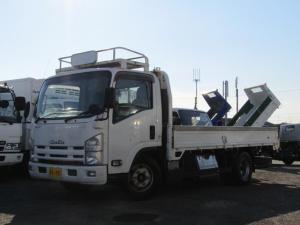 いすゞ エルフトラック  平ボディ ワイドロング 積載量4.6t 1ナンバー 鳥居鉄板張り 3方開