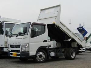 三菱ふそう キャンター 全低床ダンプ 積載量2000kg 極東開発製 リアピン ディーゼル 5速MT 排出ガス浄化装置