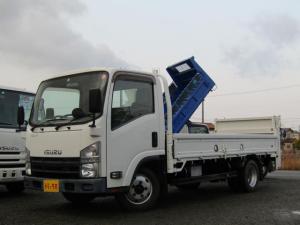 いすゞ エルフトラック  平ボディー パワーゲート付 積載量2t 極東開発製垂直パワーゲート 標準ロング 全低床