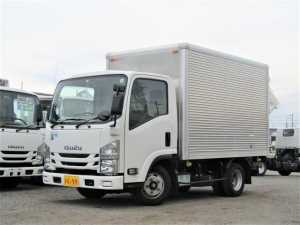 いすゞ エルフトラック アルミバン 積載量2t 全低床 10尺 AT ラッシングレール ナビ バックカメラ ETC