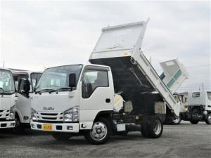 いすゞ エルフトラック 強化ダンプ 新明和製ダンプ 積載量2t コボレーン付 全低床 車両総重量5t未満 4ナンバー