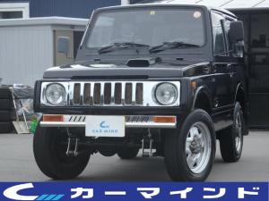 スズキ ジムニー HC 後期最終モデル 全塗装ブラック リフトアップ TANIGUCHIシャックル JA11V改 メッキグリル グリルガートバー 5MT 4WD F6Aターボエンジン エアコン パワステ ETC 社外CD