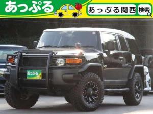 トヨタ FJクルーザー ベースグレード 4WD リアデフロック リフトアップ 社外17アルミ グリルガード 社外グリル ブラックテールレンズ サイドステップ 社外ナビ(フルセグ/Bluetooth/CD/DVD/SD) バクカメラ ETC