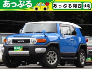 トヨタ FJクルーザー カラーパッケージ 純正HDDナビ ETC Bカメラ コーナーセンサー クルコン ステリモ連動 マニュアルエアコン ハロゲンヘッドライト