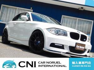BMW 1シリーズ 135i 後期型 Mスポーツ ツインターボ MパフォーマンスD席バケットシート M専用エアロ Fリップスポイラー 社外18AW サンルーフ 黒本革シート シートヒーター 純正HDDナビ iDrive