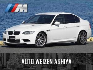 BMW M3 M3 セダン 正規ディーラー車/右ハンドル/後期モデル/7速DCT/黒革シート/純正HDDナビ 地デジ バックカメラ/ETC/レーダー/キセノン/保証書 取説 スペアキーレス
