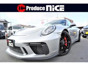 ポルシェ 911 911GT3 スポーツクロノパッケージ レザーインテリアパッケージレッドステッチ スモーカーズ リバースカメラ ステアリングセンターレッド防眩ミラー カーボンドアシルガード メインブラックLEDヘッドランプ