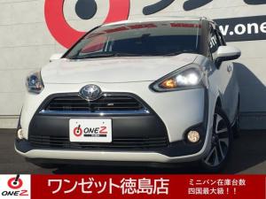 トヨタ シエンタ G 両側パワースライド・トヨタセーフティセンス・フリップダウンモニター・アイドリングストップ・電動格納ミラー・パークアシスト・LEDヘッドライト・バックカメラ・フルセグ・Bluetooth接続