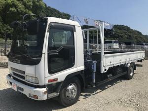いすゞ フォワード 3t積4段クレーン・ラジコン有・3ペダル・6MT タダノ製・フックイン