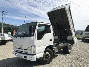 いすゞ エルフトラック 3t積強化ダンプ・リアダム式・コボレーン付・高床車