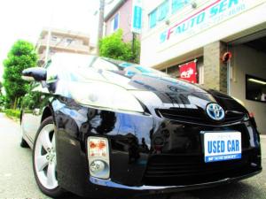 トヨタ プリウス S 純正ナビ ビルトインETC バックカメラ スマートキー プッシュスタート プロジェクターヘッドライト フォグ LEDテール ウインカードアミラー 17AW リアスモーク