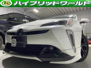 トヨタ プリウス Aツーリングセレクション セーフティーセンス・アルパイン9インチナビ・フルセグ・バックカメラ・HUD・TRDエアロ・TRDマフラー・Bluetooth・パワーシート・フォグ・ワンオーナー・快適温度シート・ETC
