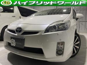 トヨタ プリウス S LEDエディション バックカメラ・ナビ・ETC・クリアランスソナー・LEDヘッドライト・社外ホイール