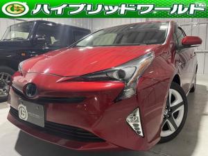 トヨタ プリウス Sツーリングセレクション フルセグ・トヨタセーフティセンス・衝突安全ブレーキ・オートハイビーム・クルーズコントロール・Bluetooth・シートヒーター・ETC・17インチホイール