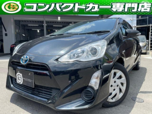 トヨタ アクア S 地デジテレビ・バックカメラ・ビルトインETC・Bluetooth・ナビ・全席パワーウィンドウ・プッシュスタート・スマートキー・オートヘッドライト