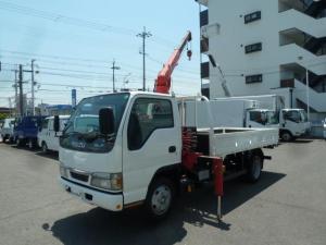 いすゞ エルフトラック 2t全低床標準ロング3段クレーン ラジコン AT車
