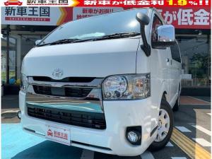 トヨタ ハイエースバン  両側スライドドア・LEDヘッドライト・バックドアイージークローザー・SRSエアバック・トヨタセーフティセンス・スマートキー・プッシュスタート・クリアランスソナー・パノラミックビューモニター