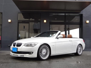 BMWアルピナ B3 S ビターボ カブリオ 正規D車 左H ブラウン本革 HDDナビ 電動オープン