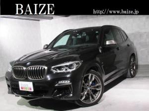 BMW X3 M40d 当社買取・1オーナ・禁煙・セレクトPKG・ヘッドアップD・インテリジェントセーフティ・パノラマルーフ・h/kサウンド・PWゲート・黒本革シート全席ヒートヒータ・全周囲カメラ・キャリパー青塗装