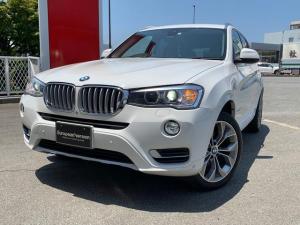 BMW X3 xDrive 20d ディーラー車 茶革パワーシート シートヒーター 純正HDDナビTVフロント&バックカメラ スマートキー ボディ同色オーバーフェンダー&サイドスカート&バンパー インテリジェントセーフティ 純正19AW