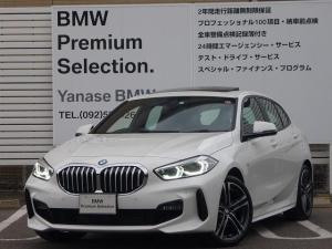 BMW 1シリーズ 118i Mスポーツ ガラスサンルーフ コンフォートP 電動トランクゲート ヘッドアップディスプレイ 18インチホイール LEDヘッドライト アクティブクルーズコントロール i-Driveナビゲーション バックカメラ USB/Bluetoothオーディオ