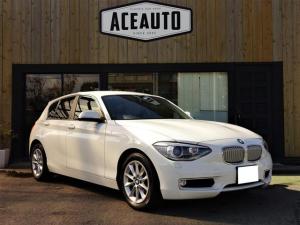 BMW 1シリーズ 116i スタイル 純正HDDナビ・TV・CD・DVD・ブルートゥース・USB バックカメラ 障害物センサー スマートキー プッシュスタート HIDヘッドライト オートライト ETC ハーフレザーシート