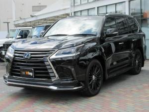 レクサス LX LX570ブラックシークエンス ワンオーナー 特別仕様車ブラックシークエンス モデリスタエアロキット TRD21インチAW ムーンルーフ 三眼LEDヘッドライトセミアニリン本革シート(ダイヤモンドステッチ)