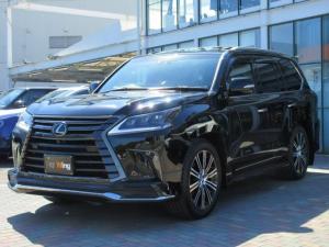 レクサス LX LX570ブラックシークエンス 特別仕様車ブラックシークエンス マークレビンソン リヤエンターテインメント モデリスタエアロキット・スポーツマフラー ドアバイザー ダイヤモンドステッチ入りシート