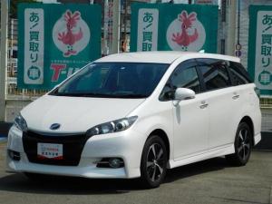 トヨタ ウィッシュ 1.8Sモノトーン HIDライト 合成皮革シート SDナビ バックガイドモニター ETC